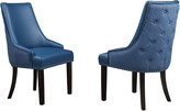 Chic Home Set Of 2 Brando Navy Dining Chairs