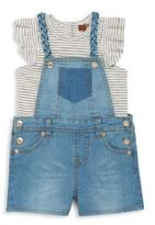 7 For All Mankind Baby's Shortall Set