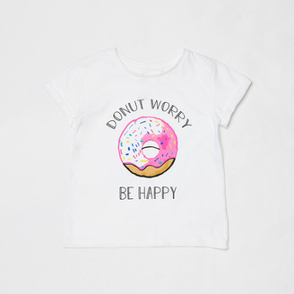 River Island Mini kids white donut charity t-shirt