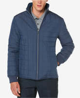 Perry Ellis Men's Reverse Quilted Puffer Jacket