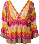 M Missoni metallic knitted blouse