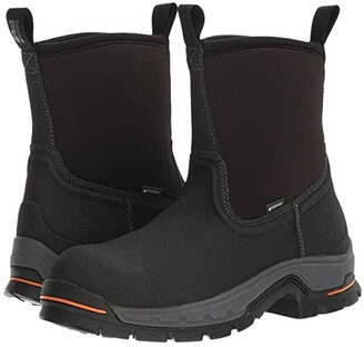 Timberland Linden 8 Alloy Safety Toe Waterproof Boot (Black) Men's Work Boots