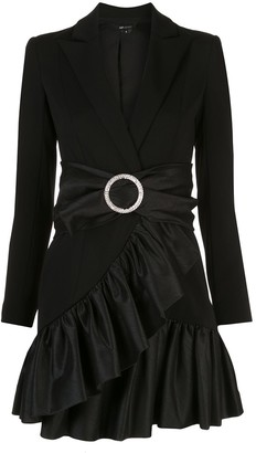 Jay Godfrey Belted Ruffled Trim Dress