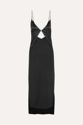 Dion Lee Cutout Silk-charmeuse Maxi Dress - Black