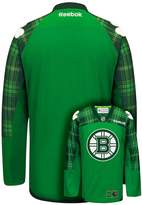 Reebok Men's Boston Bruins Saint Patrick's Day Tartan Plaid Jersey