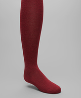 Me Moi Burgundy Flat-Knit Tights - Toddler & Girls