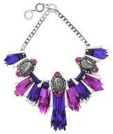 Forest of Chintz Disco Jungle Pink Purple Fringe Necklace