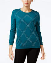 Alfred Dunner Petite Classics Embellished Sweater