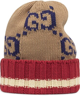 Gucci GG knitted beanie hat