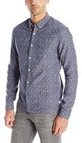 Scotch & Soda Men's Printed Chambray Button-Down Shirt