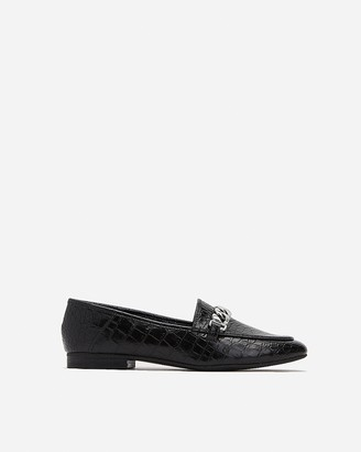 Express Square Toe Chain Loafers