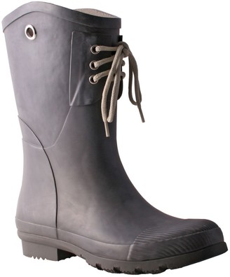 NOMAD Lace-Up Detail Rubber Rain Boots - KellyB