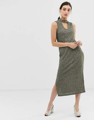 Benetton sleveveless maxi knittdress with keyhole cut out