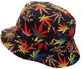 NYfashion101 Reversible Colorful Allover Leaf Print Design Bucket Hat