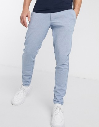 ONLY & SONS slim tapered fit trousers in light blue