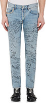 Gucci Men's Punk Words-Print Skinny Jeans