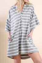 Umgee USA Striped V-Neck Dress