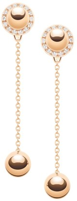 Piaget Possession 18K Rose Gold & Diamond Stud & Chain Drop Ear Jacket Set