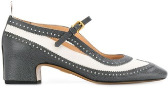 Thom Browne pebbled Mary-Jane 40mm pumps