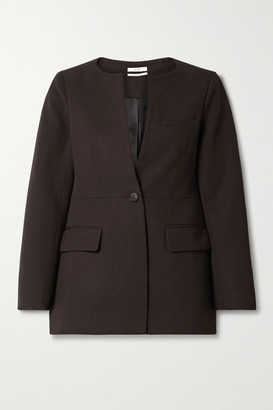 Co Twill Blazer - Dark brown