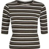 River Island Womens Khaki stripe jersey top