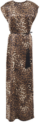 Nili Lotan Lillian Tassel-trimmed Leopard-print Silk-satin Maxi Dress