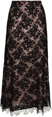 Silvia Tcherassi Marghera sequin-embellished lace skirt