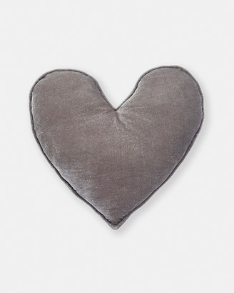 Nana Huchy - Grey Characters - Velvet Heart Cushion - Size One Size at The Iconic
