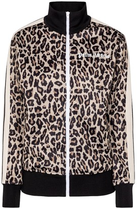 Palm Angels Leopard-print track jacket