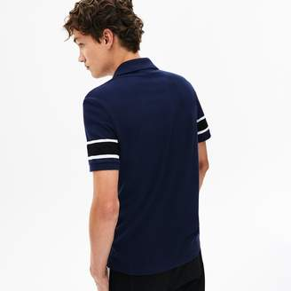 Lacoste Men's Slim Fit Striped-Sleeve Stretch Cotton Pique Polo Shirt