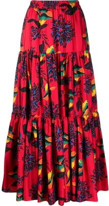 La DoubleJ printed full skirt