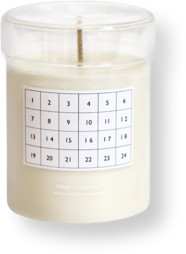 ferm LIVING White Scented Candle - Christmas Calendar - 8 x 10 cm   glass   Christmas Calendar   white - White/White