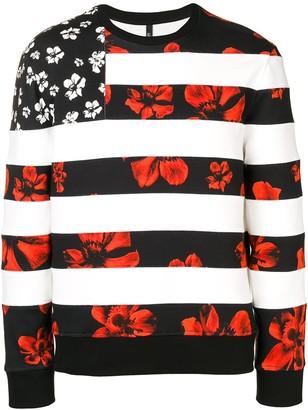 Neil Barrett mixed print sweatshirt