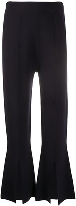 Allude Crop Flared Trousers