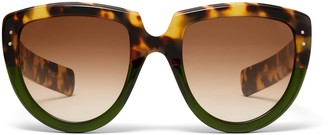 Oliver Goldsmith Sunglasses Y-Not 1966 Leopard On Seafoam