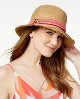 Vince Camuto Striped Ribbon Fedora