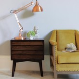 Graham and Green Giogio Dark Bedside Table