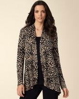 Soma Intimates Soft Jersey Spotted Black Long Sleeve Cover Up
