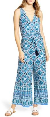Tommy Bahama Nassau Tile Print Sleeveless Jumpsuit