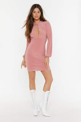 Nasty Gal Womens Collar At Me Cut-Out Mini Dress - Pink - 12