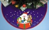 "Designworks Design Works ""Carolling Santa Tree Skirt"" Coloured Felt Sheets"