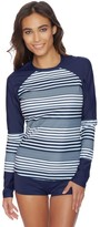 Nautica Seabrook Stripe Long Sleeve Rash Guard