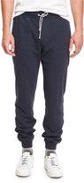 Brunello Cucinelli Drawstring Jersey Lounge Pants, Navy