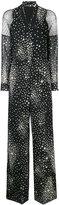 RED Valentino star print jumpsuit - women - Silk/Polyamide/Polyester/Spandex/Elastane - 38