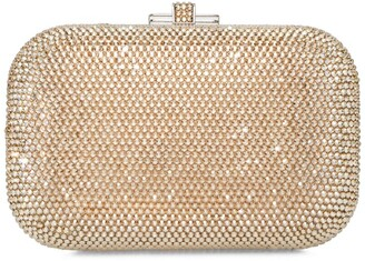 Judith Leiber Slide-Lock Box Clutch Bag