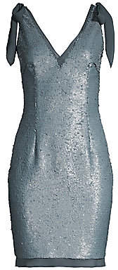 Aidan Mattox Women's Sequin & Chiffon Bow Detail Cocktail Dress