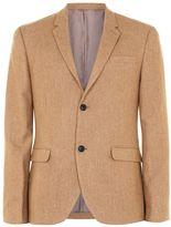 Topman Camel Wool Rich Skinny Fit Blazer