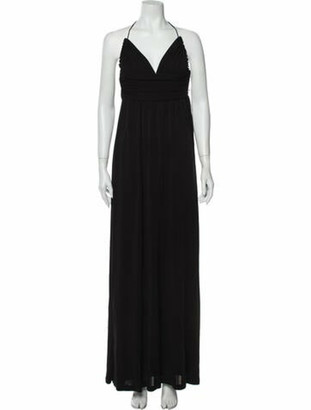 Celine Halterneck Long Dress Black