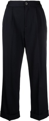 Masscob Cropped Straight-Leg Trousers