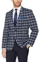 Ben Sherman Men's Two Button Shadow Plaid Blazer